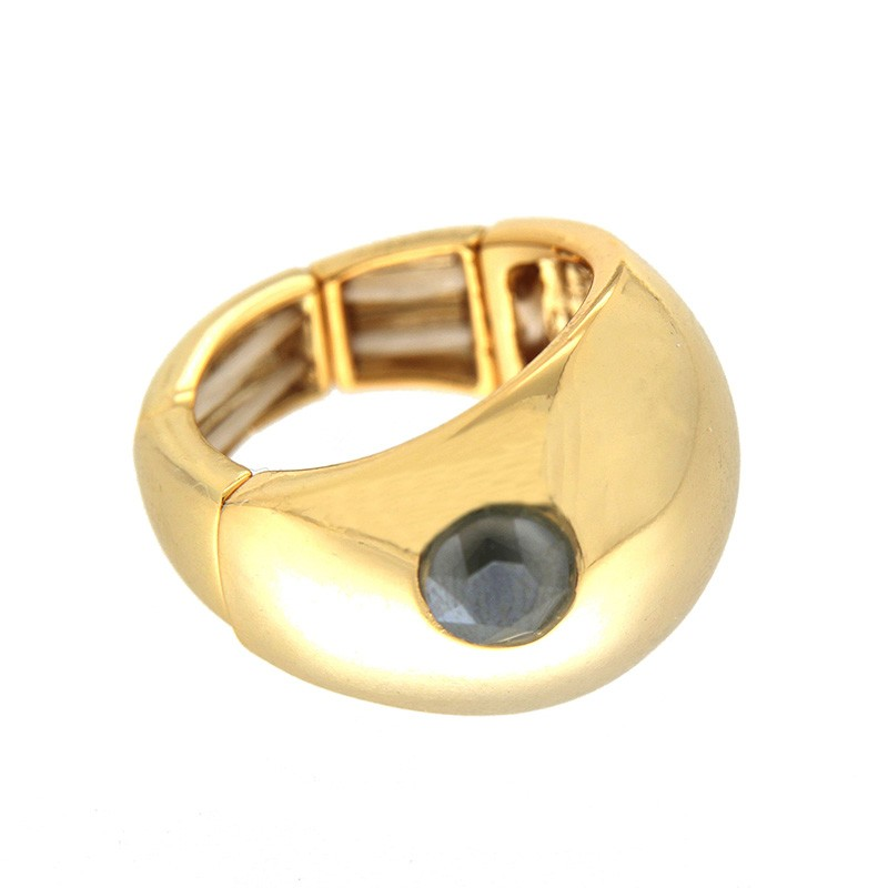 Stretchring Tila, gold/bl.diamond 0