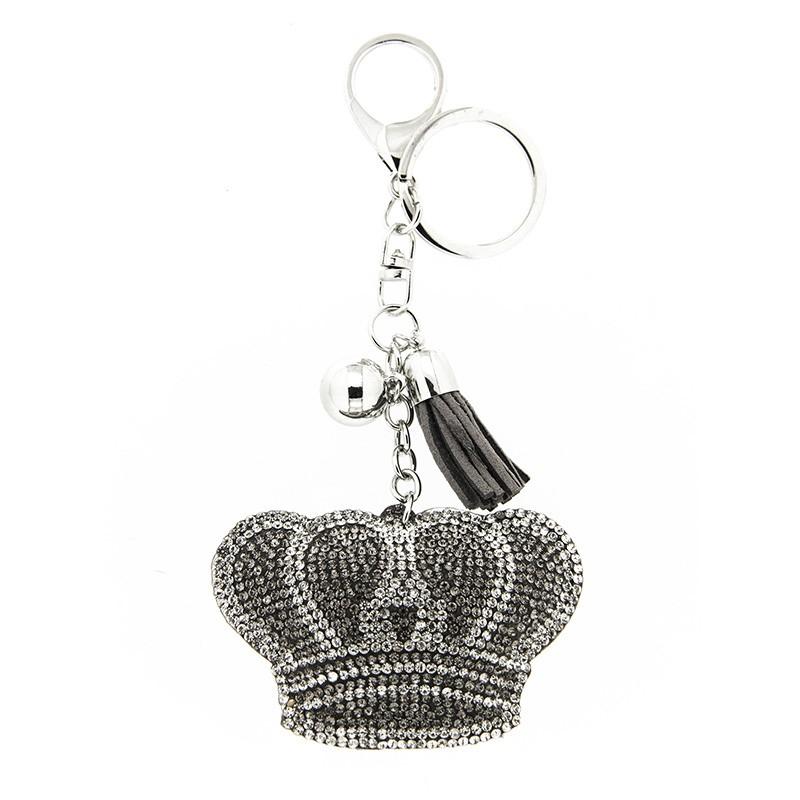 Schlüsselanhänger Krone, silber/bl.diam./crystal 0