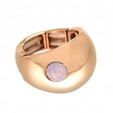 Stretchring Tila, rosegold/rose opal 0