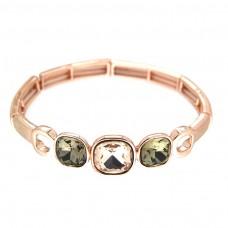 Armband Yanna, rosegold/b.diamond/li.topaz 0