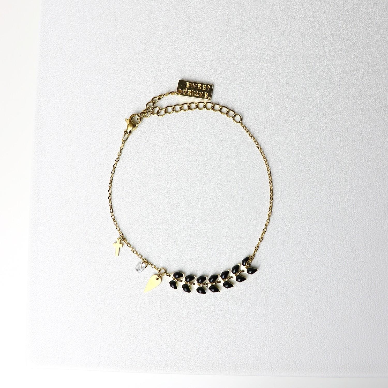 Armband Antigone, gold/schwarz