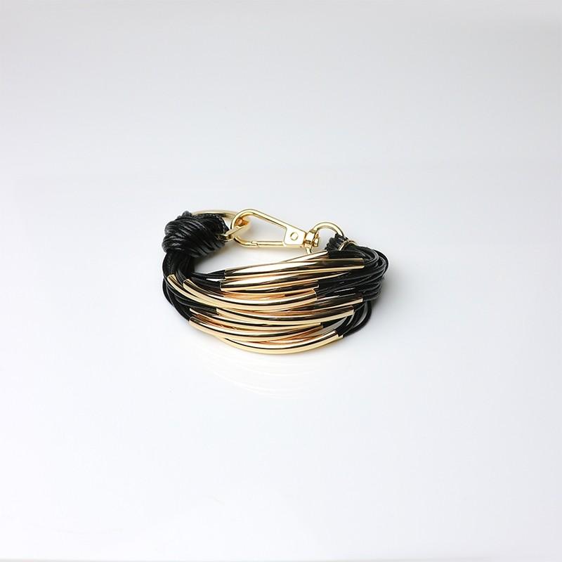 Armband Ella, gold/schwarz