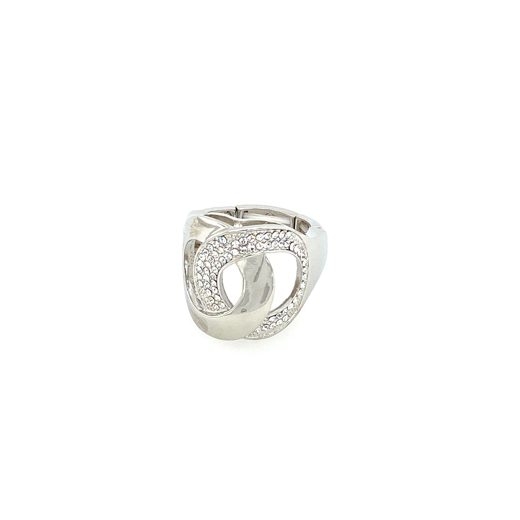 Stretchring, silber/crystal