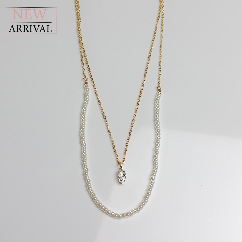 Kette Adelheid, gold/pearl
