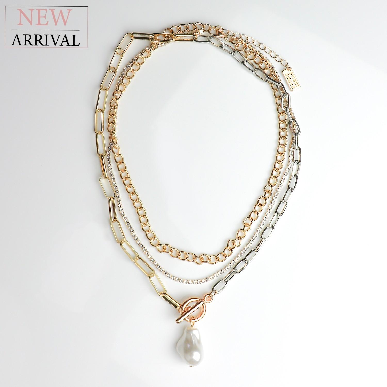 Kette Banu, gold/silber/pearl