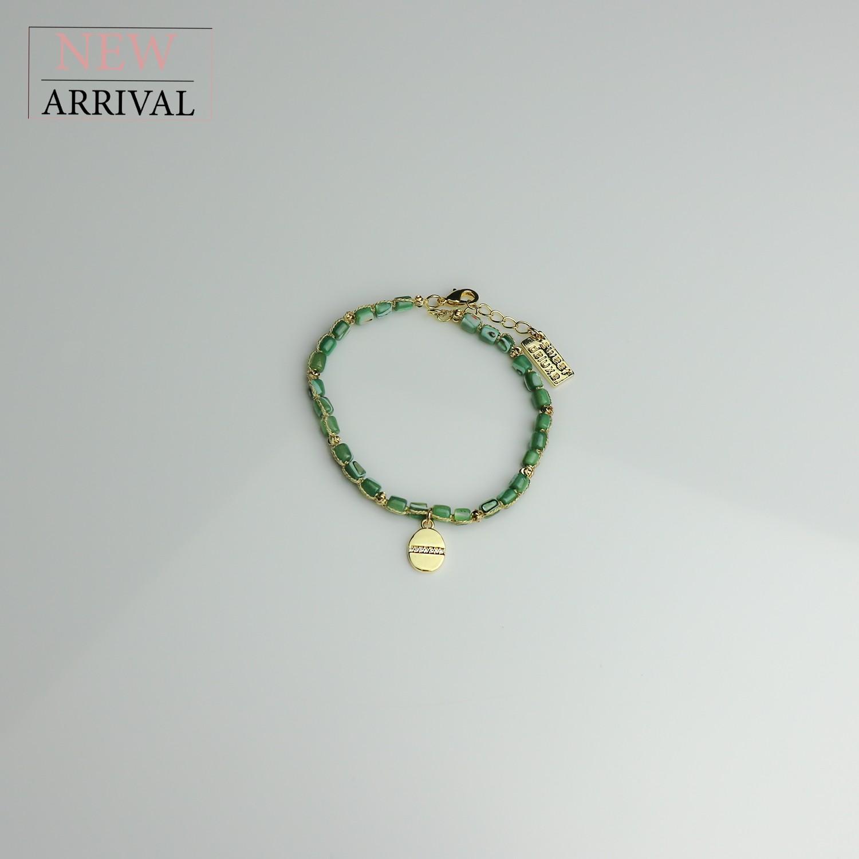 Armband Christien, gold/grün