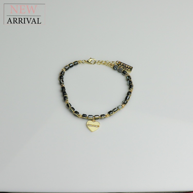 Armband Christien II, gold/schwarz