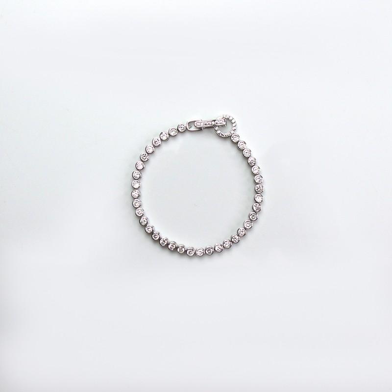 Armband Ayuna, silver/crystal