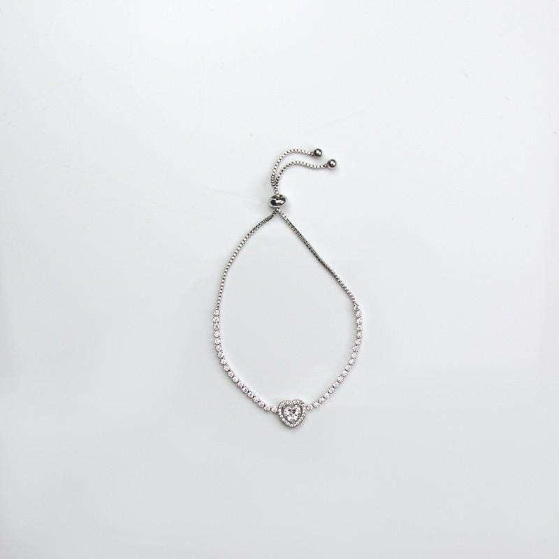 Armband Camellia, silver/crystal