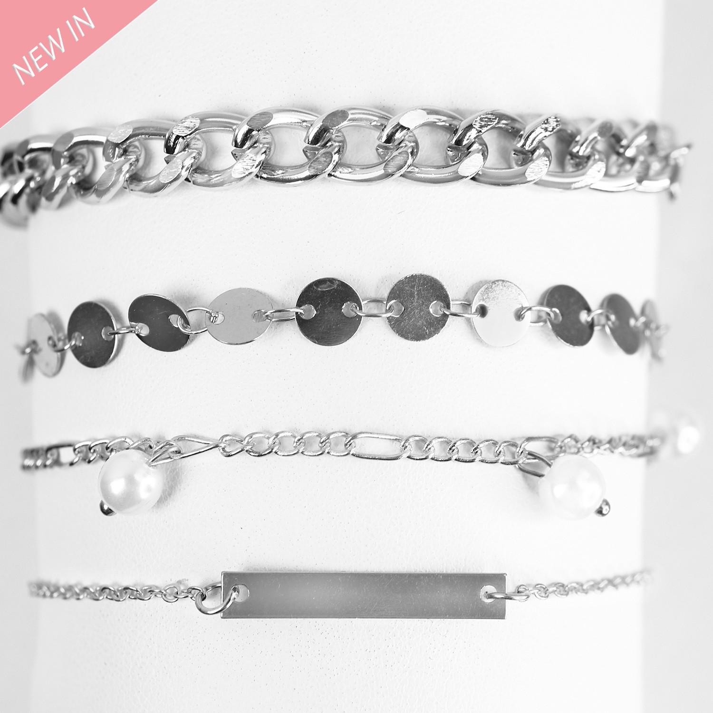Armband-Set Fiametta, silber pearl 0