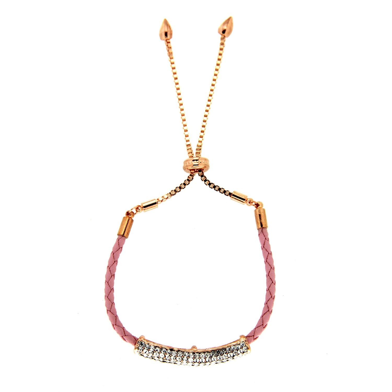 Armband Aalisha, rosegold crystal weiß 0