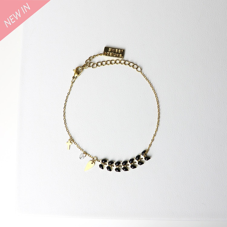 Armband Antigone, gold schwarz 0