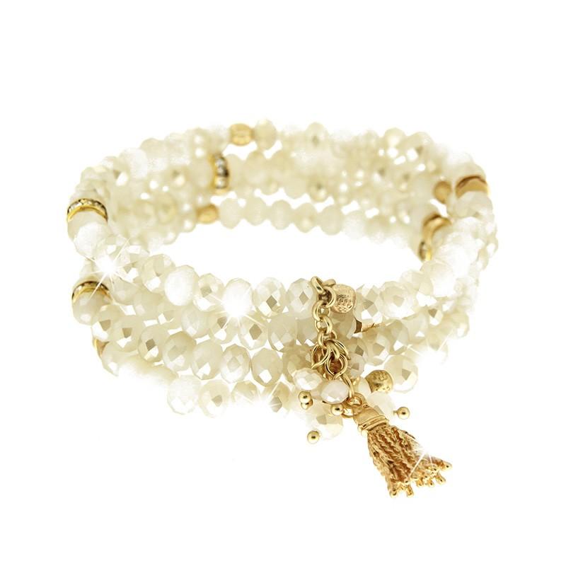 Armband Delia, creme gold 0