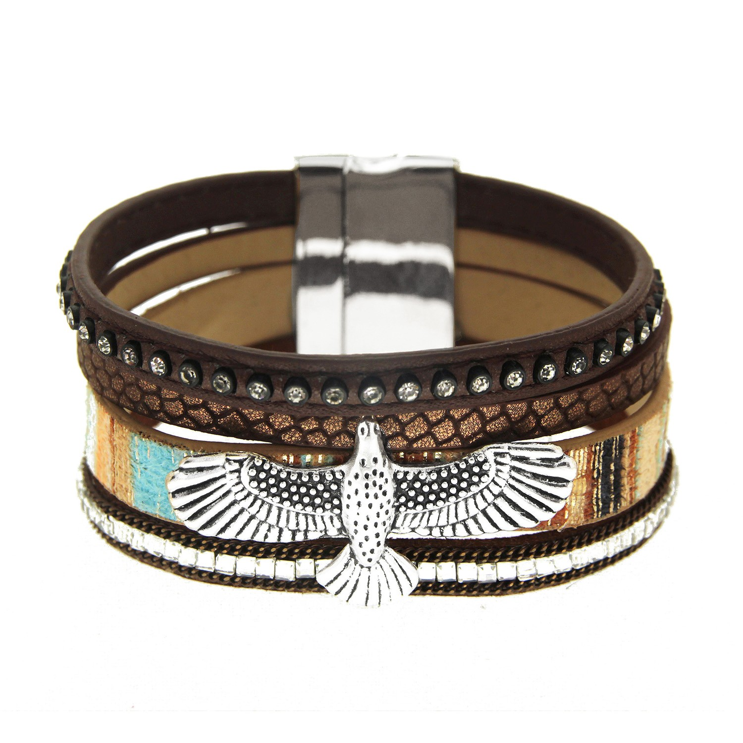 Armband Eagle, silber coffee 0