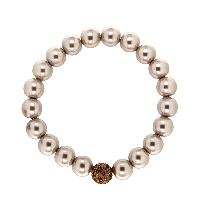Armband elegant pearl, taupe topaz 0