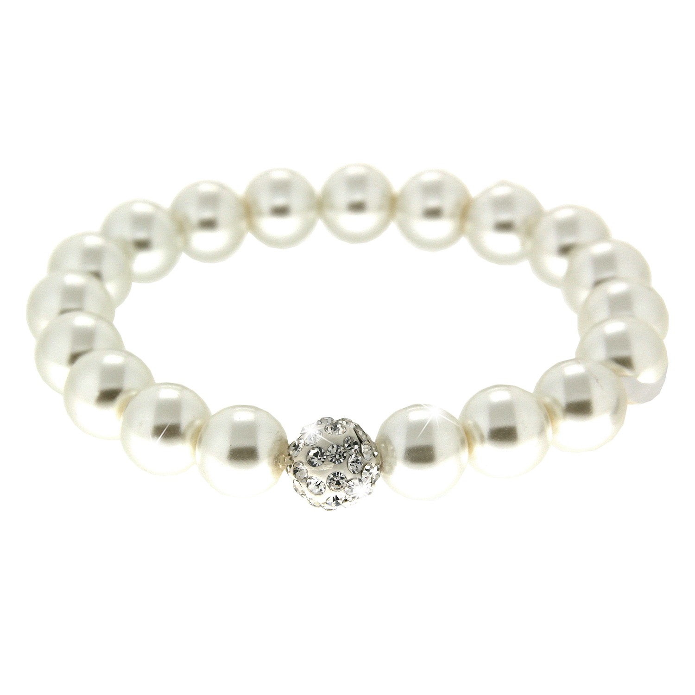 Armband elegant pearl weiß 0