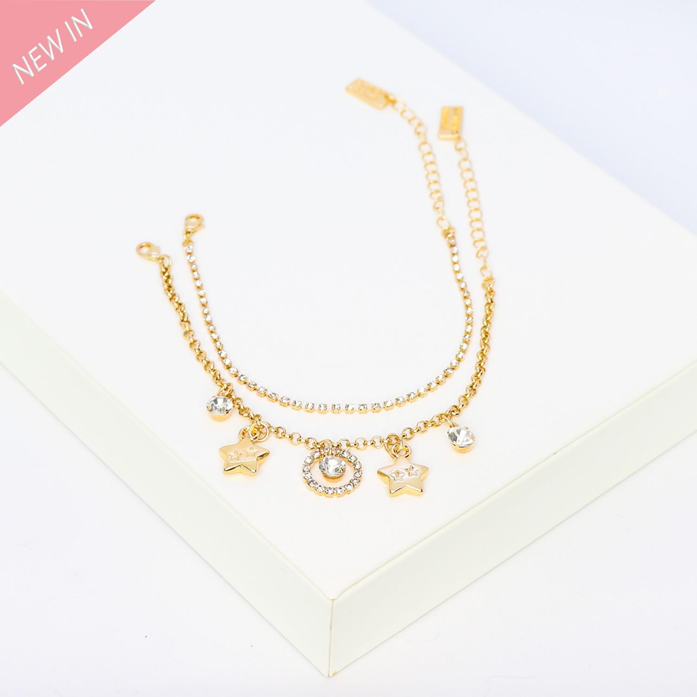 Armband Elida, 2tlg.,gold crystal 0