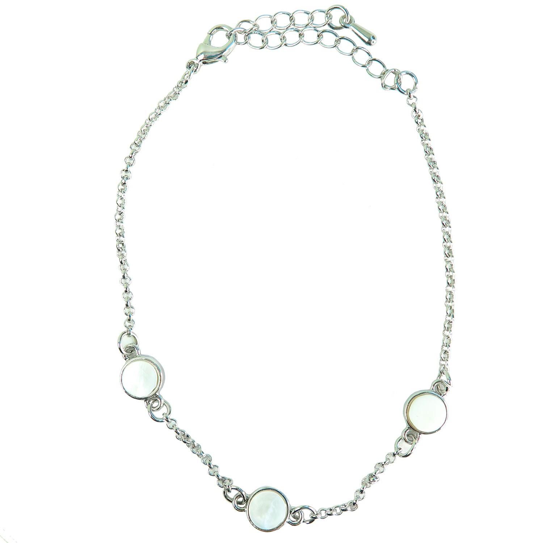 Armband Ercelina, silber weiß opal 0