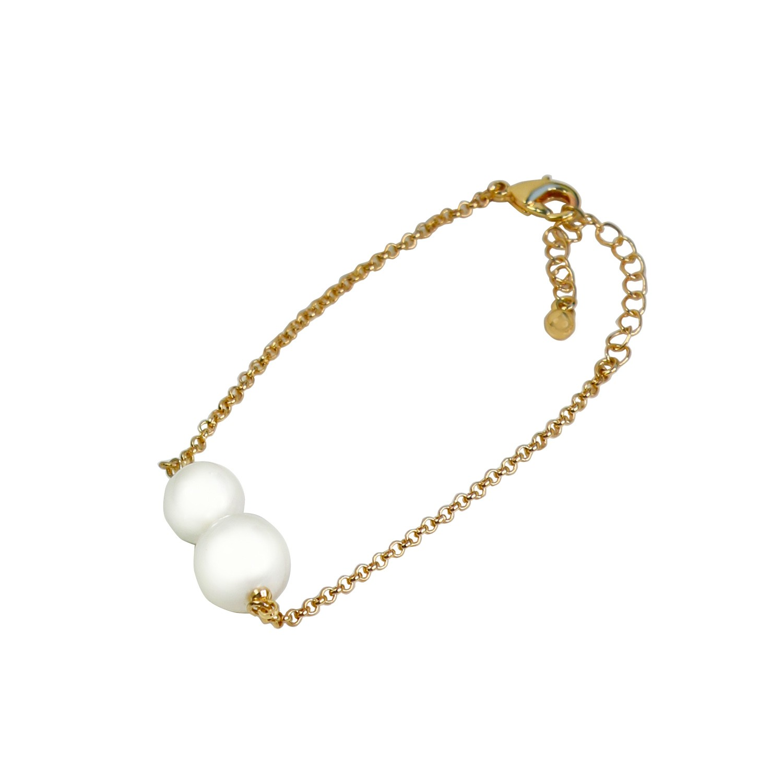 Armband Felicita, gold Perle 0