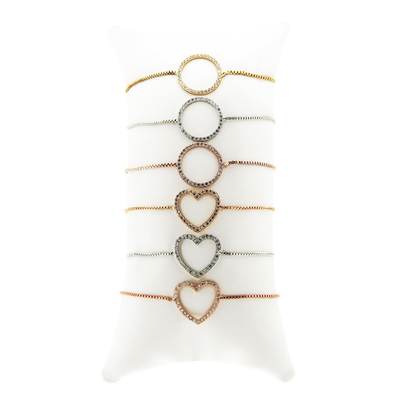 Armbandkissen Set Herz Ring, 6-fach, tricolor 0