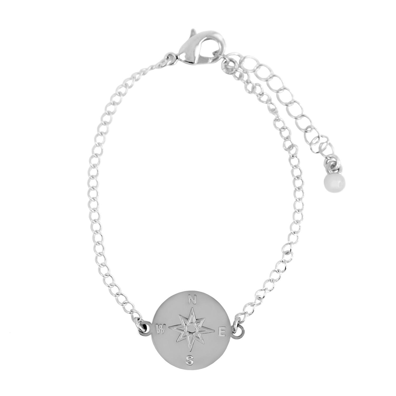 Armband Kompass, silber 0