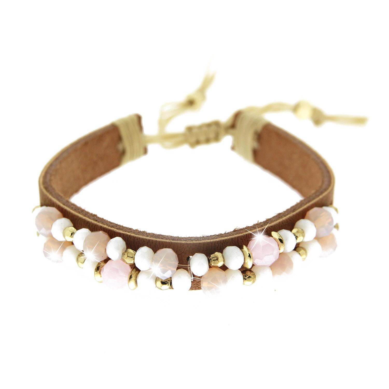 Armband Marcelina, braun weiß rose gold 0
