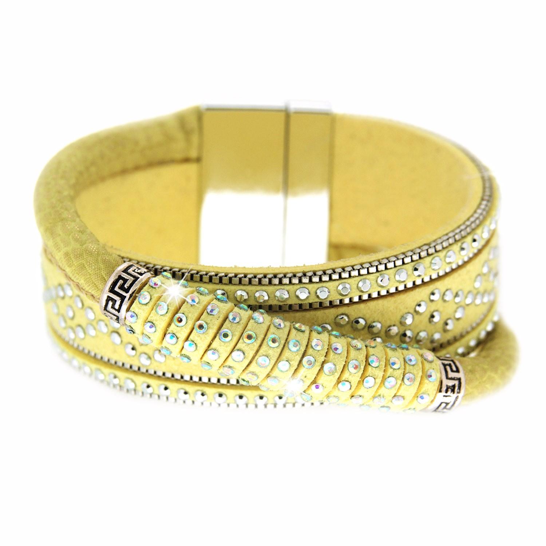 Armband Marisol, gelb silber crystal 0