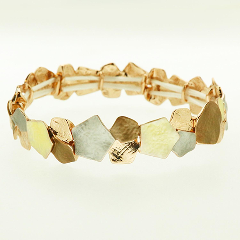 Armband, mattgold rosegold bronze 0