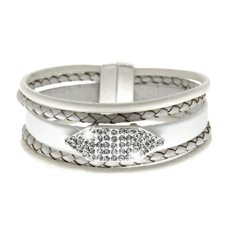 Armband Nuna, mattsilber weiß crystal 0
