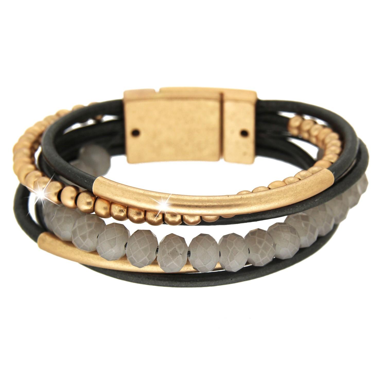 Armband Rabea, mattgold grau 0