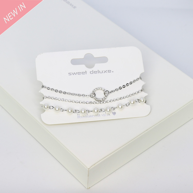 Armband Rizalyn, 3tlg.,silber crystal 0