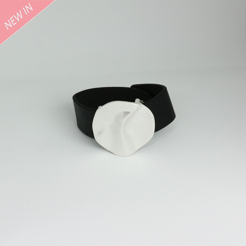 Armband, schwarz mattsilber 0