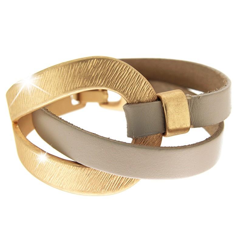 Armband Selina, mattgold taupe 0
