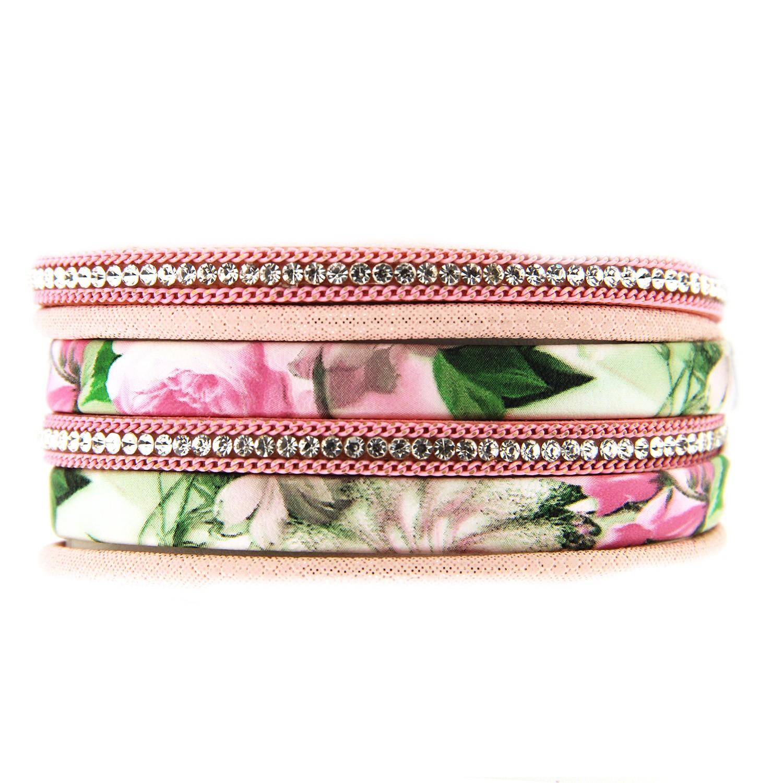 Armband Solveig, mattsilber pink 0
