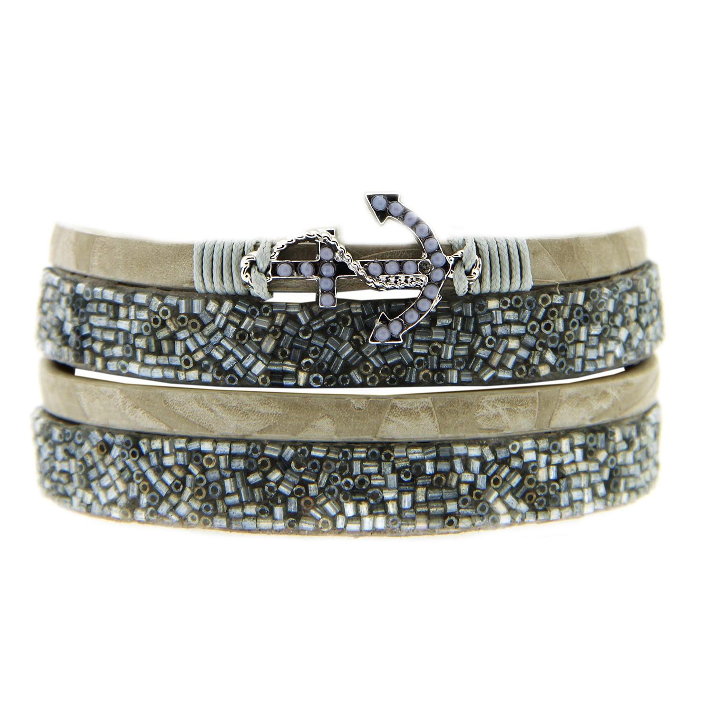 Armband Syrina, mattsilber grau 0