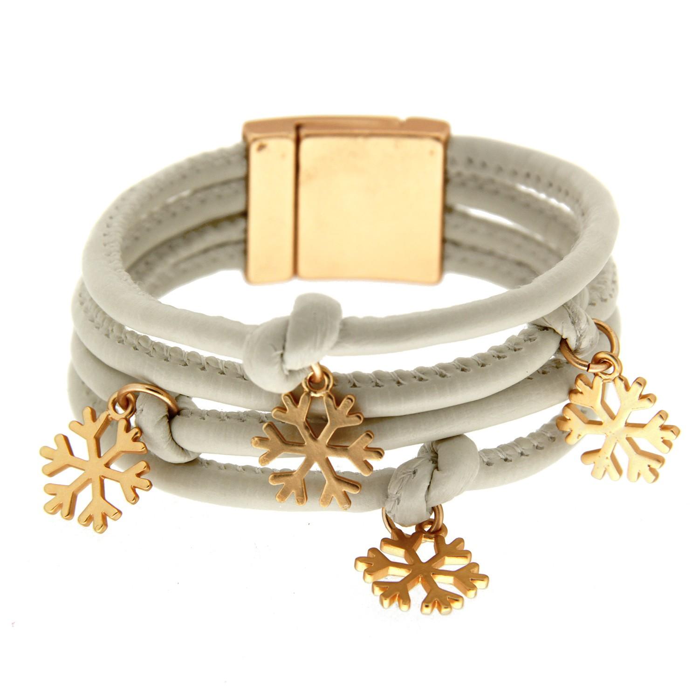 Armband Tinka, mattgold/cremeweiß