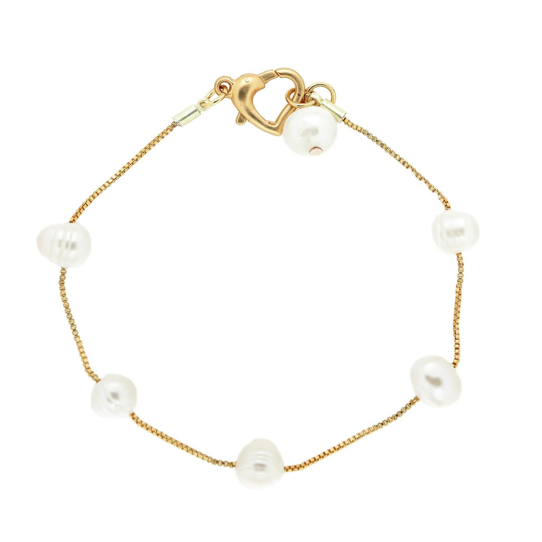 Armband Toja, mattgold Perle 0