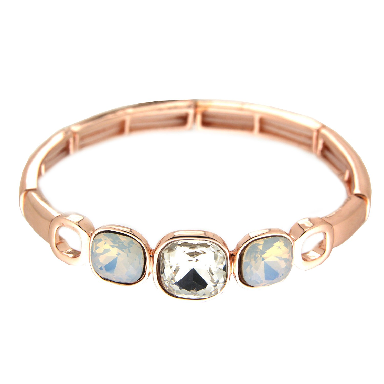 Armband Yanna, rosegold crystal weiß opal 0