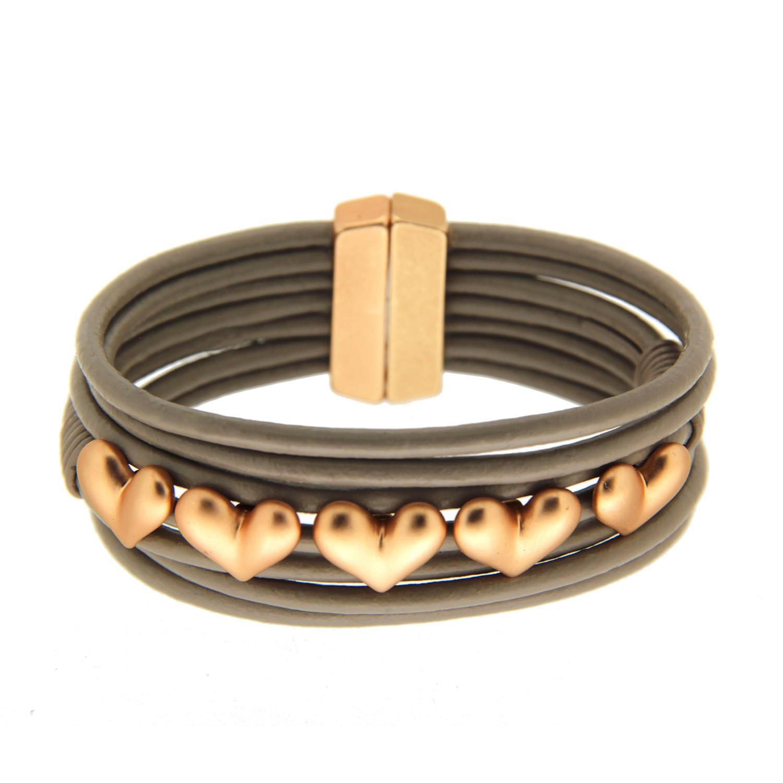 Armband Yara, mattgold taupe 0