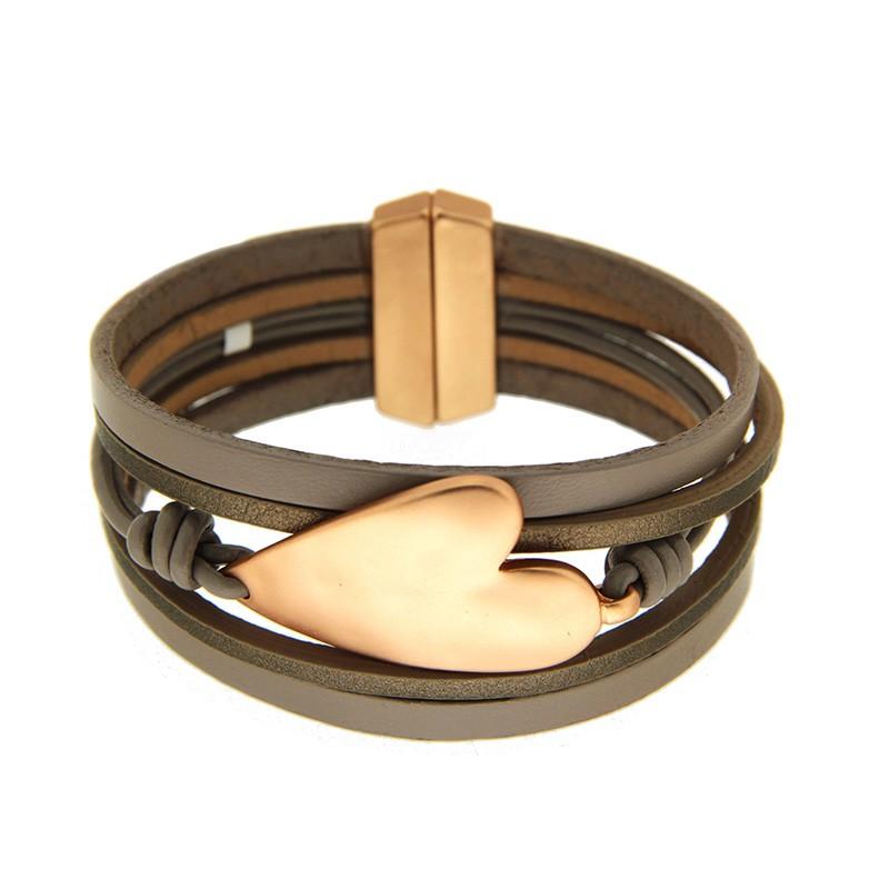 Armband Zea, mattgold taupe 0