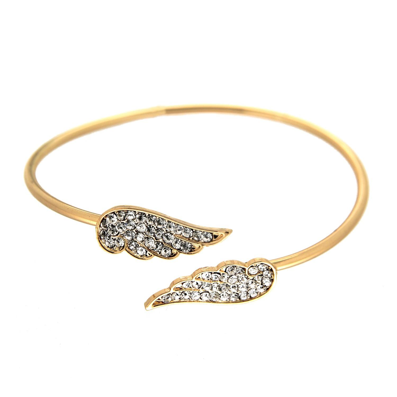 Armreif Nastai, gold crystal 0