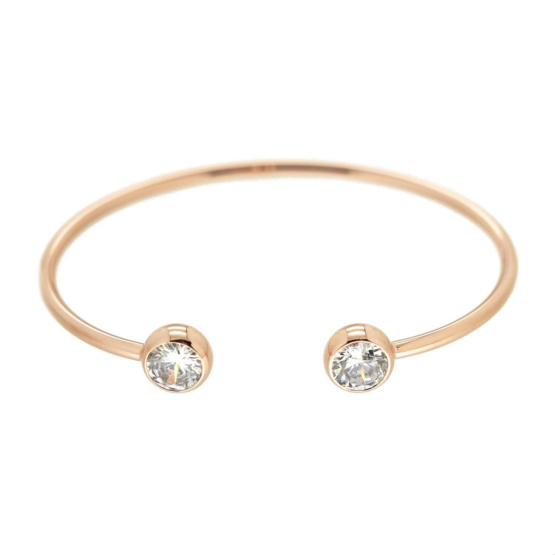 Armspange Alenica, crystal rosegold 0