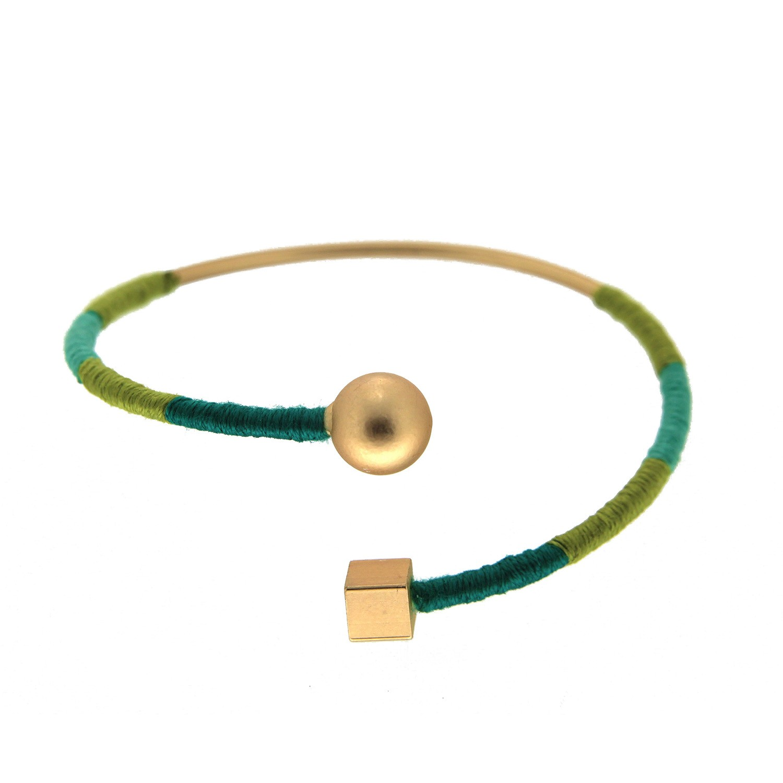 Armspange Giada, gold grün mix 0