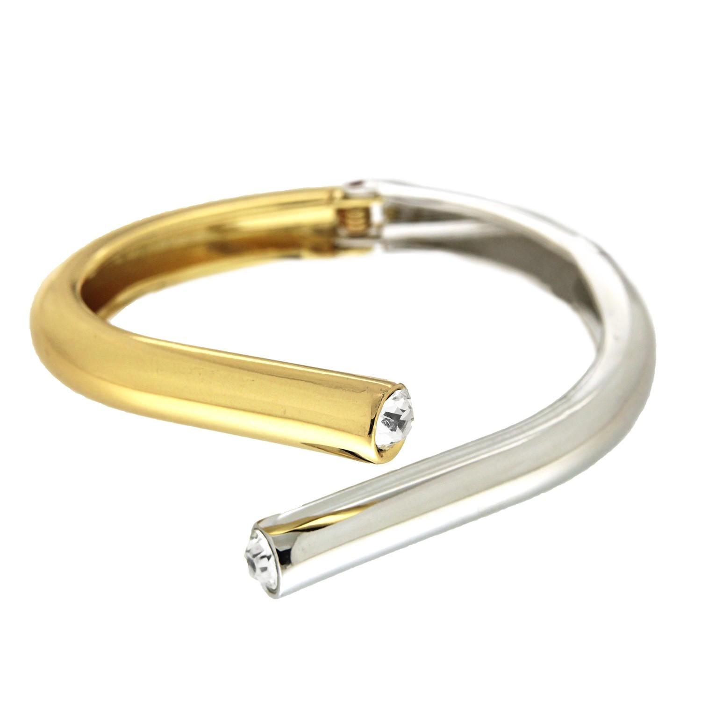 Armspange Stina, gold silber crystal 0
