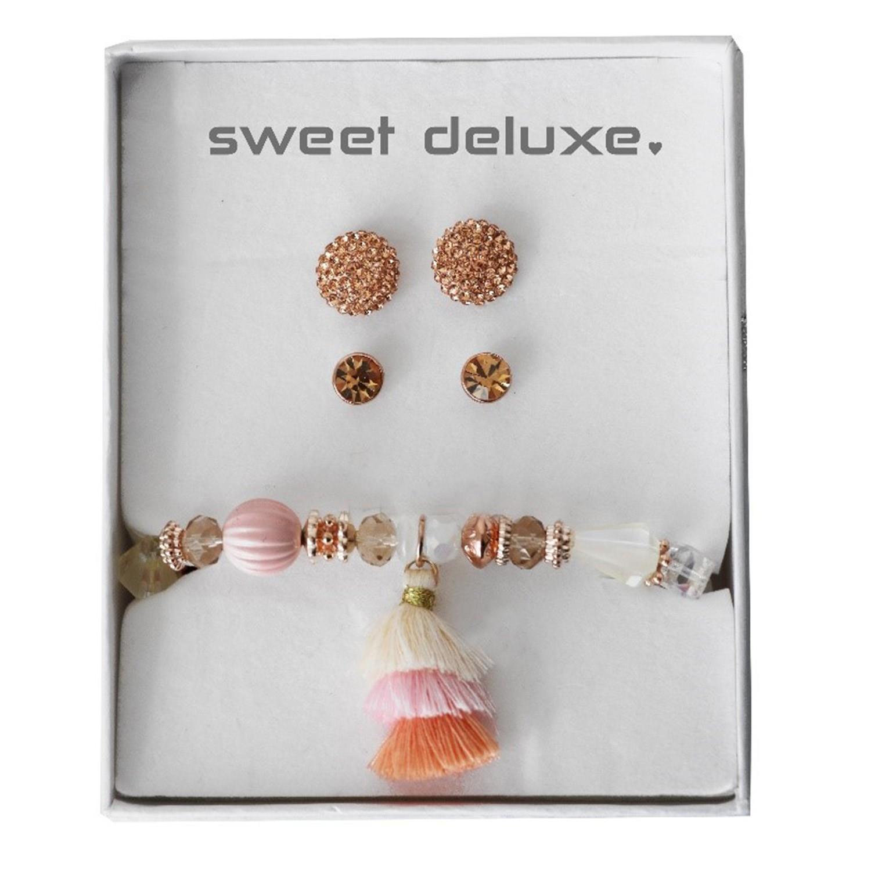 Box 2 earrings, 1 Blet summer rose 0