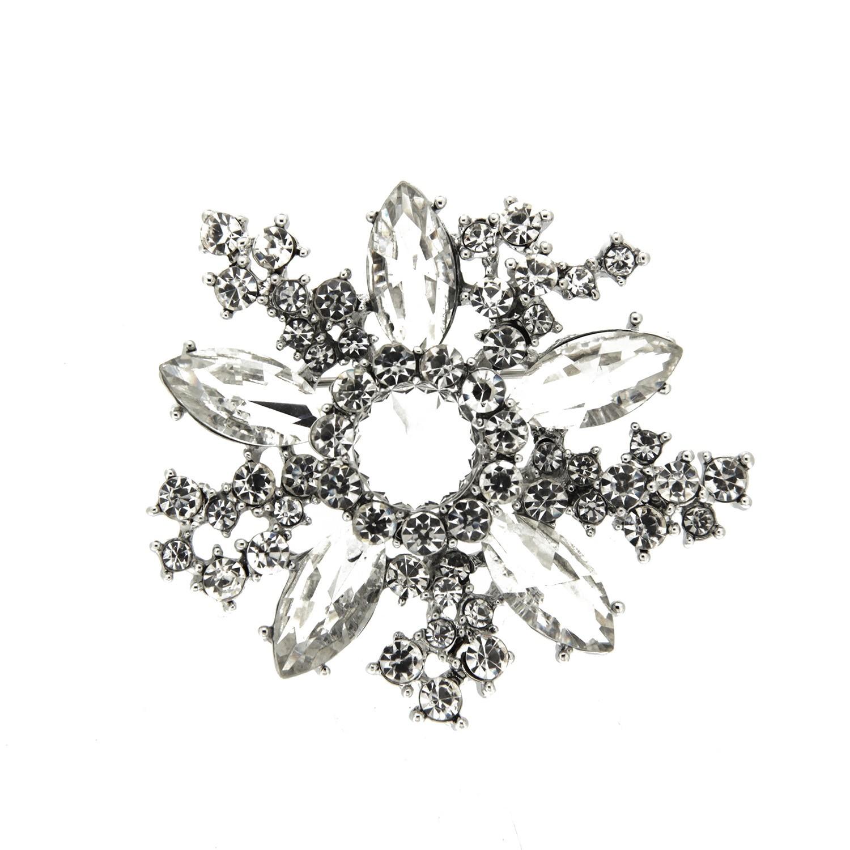 Brosche Ansa, silber crystal 0