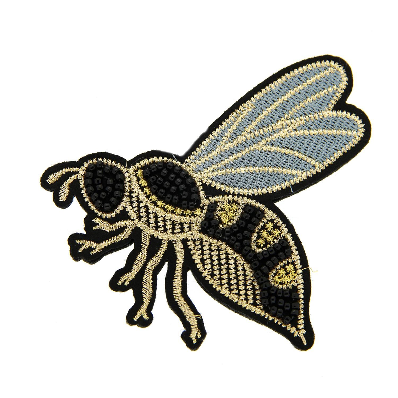 Brosche Biene II, schwarz gelb 0