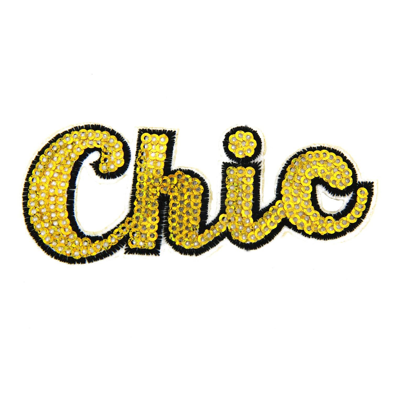 Brosche Chic, schwarz gold 0