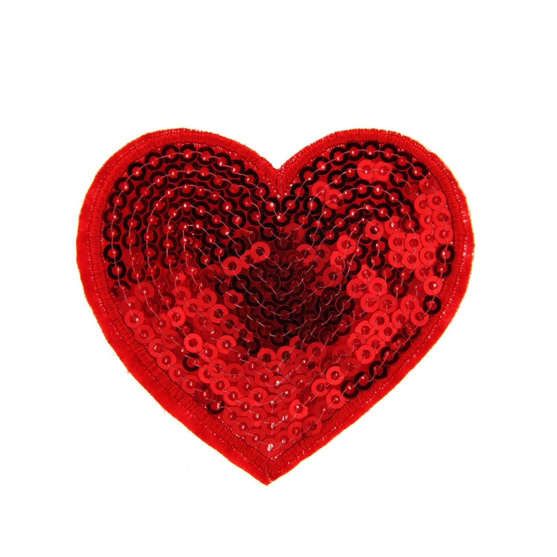 Brosche Herz, rot 0