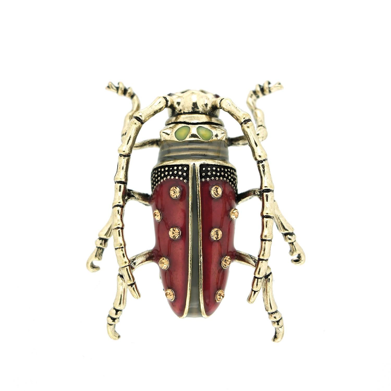 Brosche Käfer, antiksilber purple 0